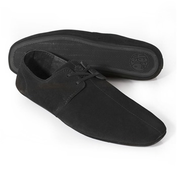 Pretty Green Black Suede Casual Shoes