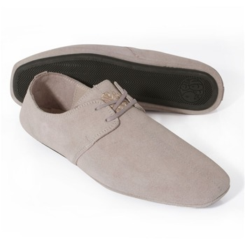 Pretty Green Light Pink Suede Casual Shoes