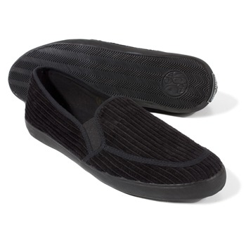Pretty Green Black Corduroy Slip-on Shoes