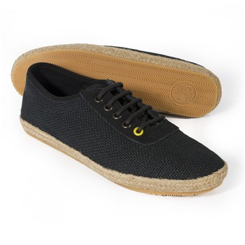 Pretty Green Black Hessian Casual Shoes