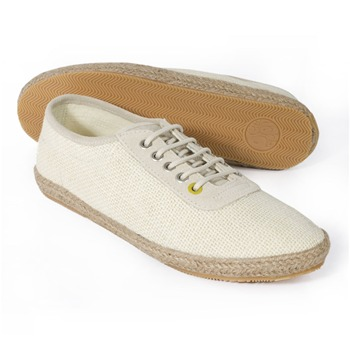 Pretty Green Natural Hessian Casual Shoes