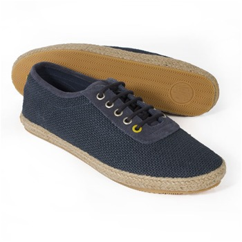 Pretty Green Navy Hessian Casual Shoes
