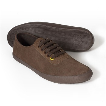 Pretty Green Brown Suede Lace Pumps