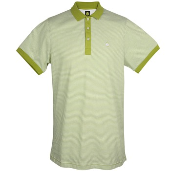 Pretty Green Lime Striped Cotton Polo Shirt