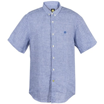 Pretty Green Blue Gingham Cotton Shirt
