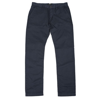 Pretty Green Navy Cotton Chino Trousers