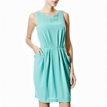 Closet Mint Green Pleated Dress