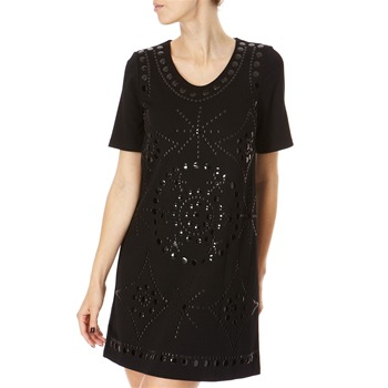 Almost Famous Black Embellished Dress