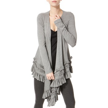 Avoca Anthology Grey Draped Jersey Top