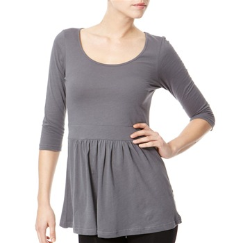 Avoca Anthology Grey Scoop Neck Jersey Top