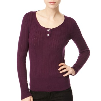Avoca Anthology Aubergine Ribbed Cotton Top