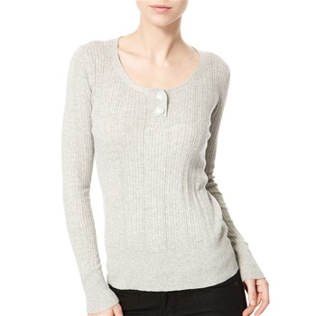 Avoca Anthology Grey Ribbed Cotton Top