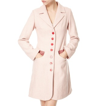 Avoca Anthology Pink/Red/White Wool Tweed Coat