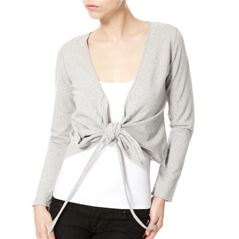 Avoca Anthology Grey Ballet Wrap Style Top