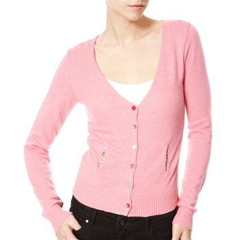 Avoca Anthology Pink Angora/Cashmere Blend Cardigan