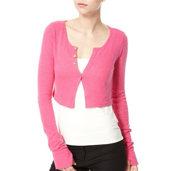 Avoca Anthology Pink Extra Long Sleeved Angora/Cashmere Blend Cardigan