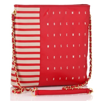 Love Moschino Ivory/Red Borsa Cross Body Bag