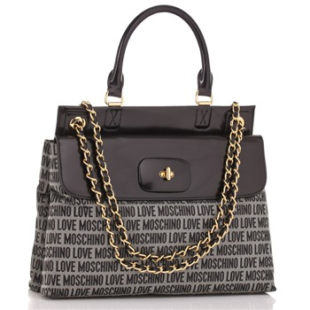 Love Moschino Black Logo Print Tess Handbag