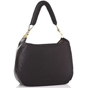 Love Moschino Black Satin Shopper