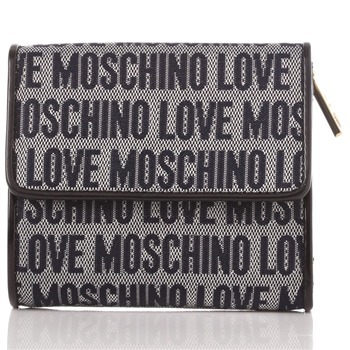 Love Moschino Navy Logo Print Jacquard Small Purse