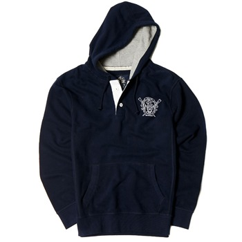 Crew Clothing Navy Marchford Hooded Jumper