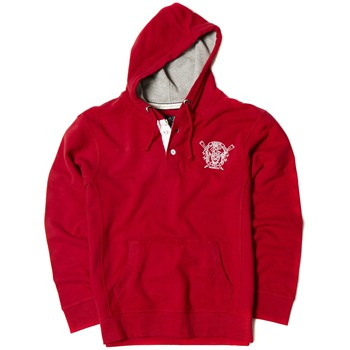 Crew Clothing Red Marchford Hooded Jumper