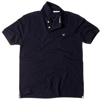 Crew Clothing Navy Lewis Solid Polo Shirt