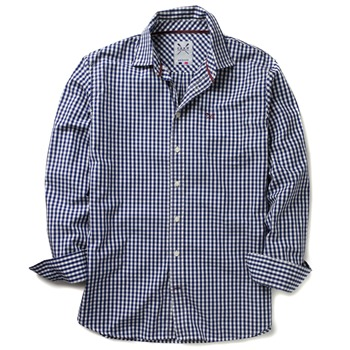 Crew Clothing Navy Classic Gingham Shirt