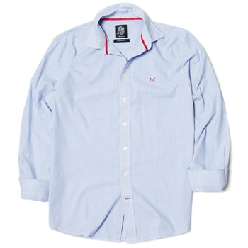 Crew Clothing Light Blue Classic Fit Striped Shirt