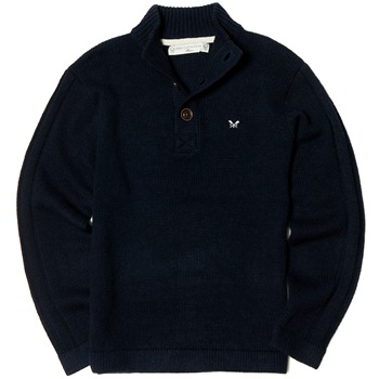 Crew Clothing Navy Highland Wool Jumper