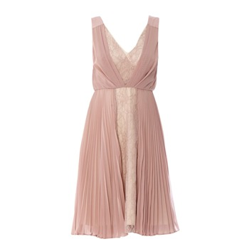 Manoukian Robe mauve et beige