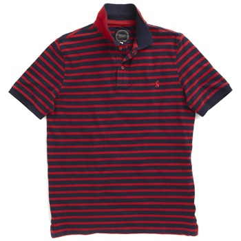 Joules Navy/Red Striped Polo Shirt