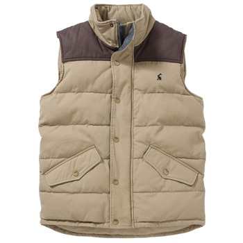 Joules Brown Padded Gilet