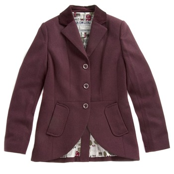 Joules Cherry Tweed Tailored Jacket