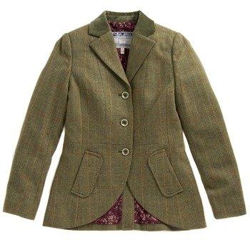 Joules Green Tweed Tailored Jacket