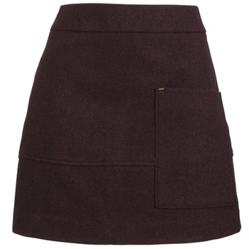 Joules Wine Farnley Wool Skirt
