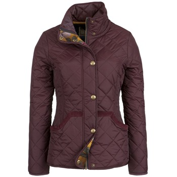Joules Wine Mordale Quilted Jacket