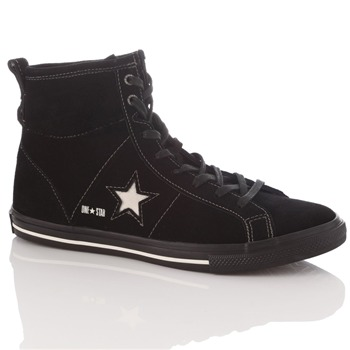 Converse Women's Black Suede One Star High Top Trainers