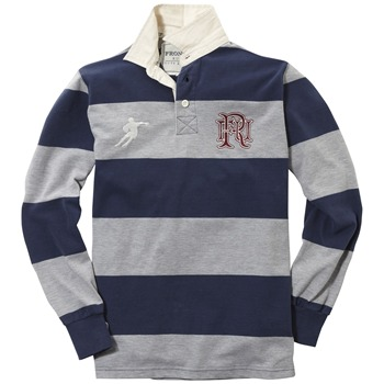 Front Up Rugby Grey Ellis Striped Rugby Shirt