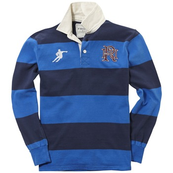Front Up Rugby Navy Ellis Striped Rugby Shirt
