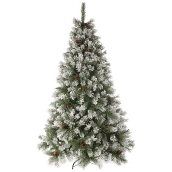 Festive Green Snow Queen Tree 7ft