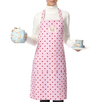 Avoca Pink/Red Polka Dot Apron