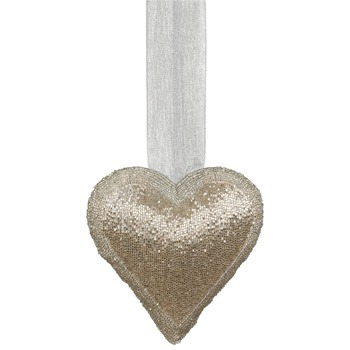 Landon Tyler Gold Beaded Heart - 20cm