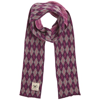 Avoca Purple/Grey Argyle Cotton Scarf (on a spool)