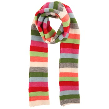 Avoca Multicolour Bright Bohemian Stripe Scarf