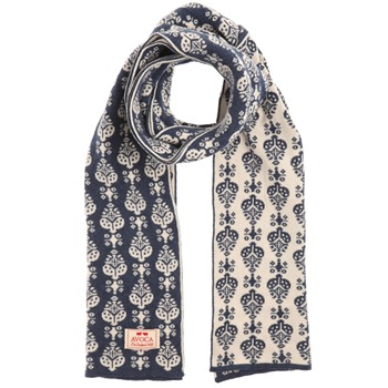Avoca Blue/Ecru Georgie Reversible Cotton Scarf