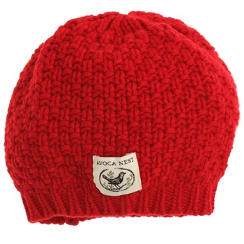 Avoca Red Moss Cashmere Blend Hat