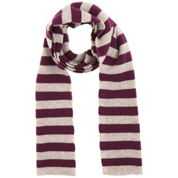 Avoca Grey/Purple Robin Striped Scarf