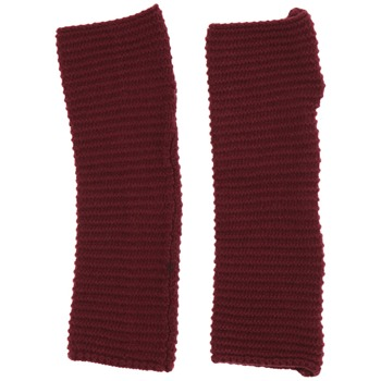 Avoca Aubergine Snapper Wool Blend Gloves