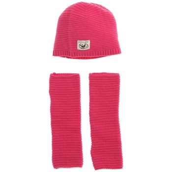 Avoca Set of Two Hot Pink Snapper Wool Blend Hat/Gloves